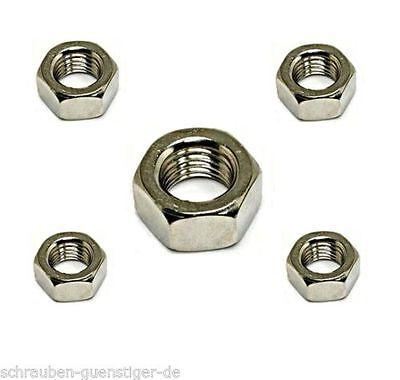 Sechskantmuttern 4 mm DIN 934 M 4  Edelstahl A2 100 Stk.