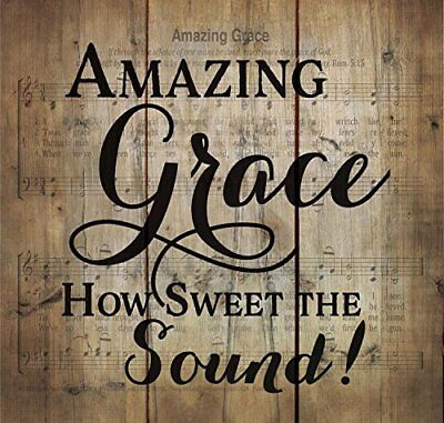 Amazing Grace Old Fashion Hymn Sheet Music Design Wood Pallet Wall Art - Design Plaque