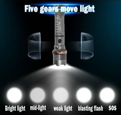 2 x Police Tactical 10000LM CREE XM-L T6 LED Flashlight Torch + Battery+ Charger