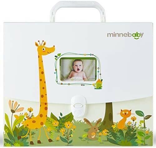 Minnebaby Baby Document Organizer, Baby Briefcase with 9 Folders
