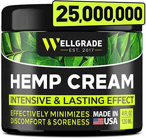Extra Hemp Cream Pain Relief Strength/Results Muscle Back Inflammation25,000,000
