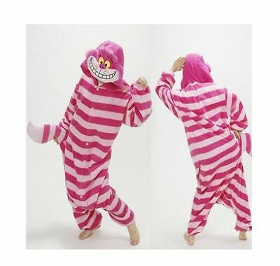 Cheshire Cat Onesie12 Kigurumi Fancy Dress Costume Cosplay Adult Cosplay Pyjamas