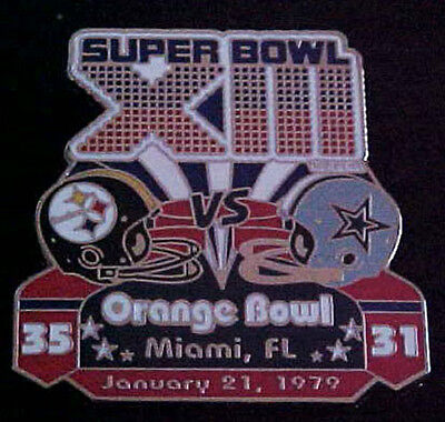 Pittsburgh Steelers Cowboys Super Bowl 13 Final Score Series Pin Willabee   Ward