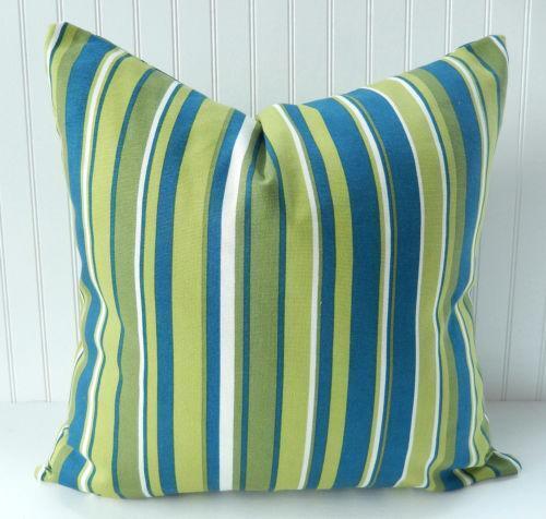 Blue Stripe Throw Pillows eBay