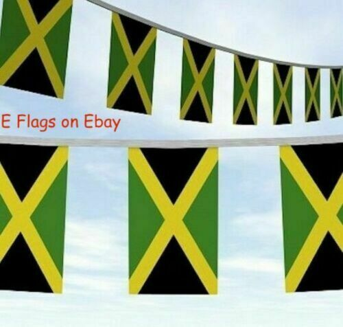 33ft  Jamaica Jamaican Caribbean Roots Rasta Flag Party Bunting