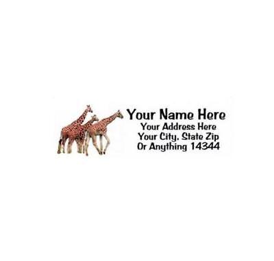 Giraffe Design Personalized Address Labels 30pcs-free Us Shipping