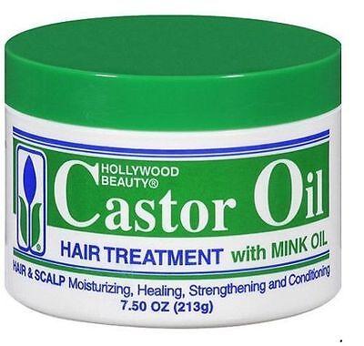 Hollywood Castor Oil Hair Treatment With Mink Oil 7.5oz