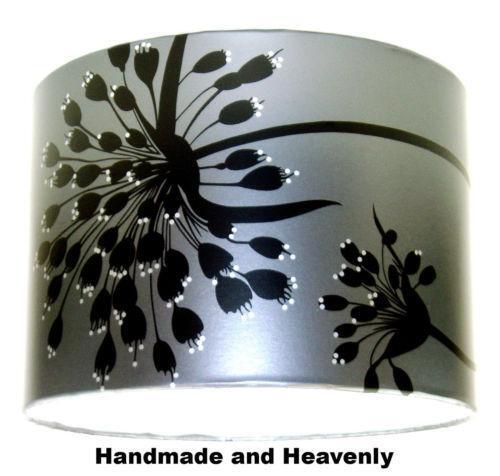 Black String Shade Chandelier 496 P Jpg: Black Silver Lampshade