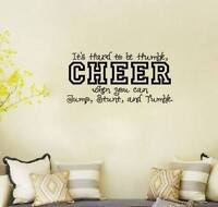 New CHEER transfer wall decal