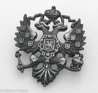 Lapel Pin - Russian Double Headed Eagle - Imperial Romanov Czar - Pewter Finish