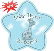 Personalised Baby on Board Signs