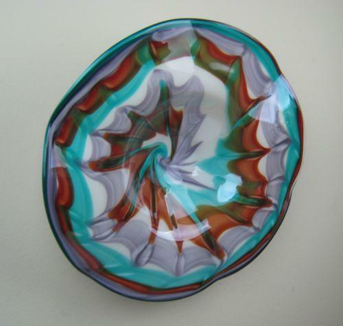 Hand Blown Glass Plate Ebay