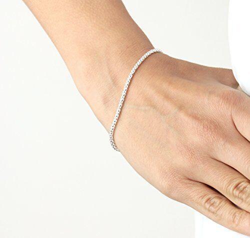 Women's Mens Unisex 925 Sterling Silver Link Chain Bracelet Popcorn Chain Fine Bracelets