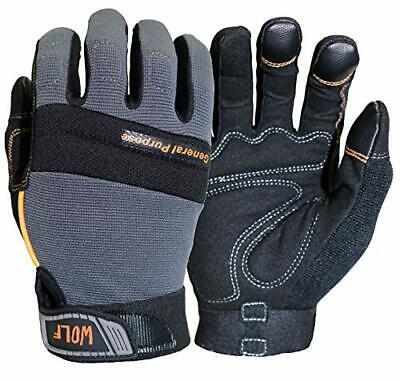 Wolf Work Gloves Mechanic Glove Heavy Duty All-purpose Stretchable Flex Grip New
