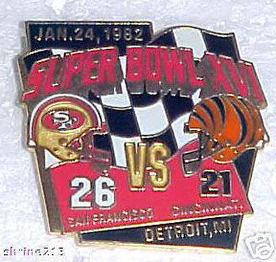Super Bowl 16 Final Score Pin San Francisco 49Ers Vs  Cincinnati Bengals
