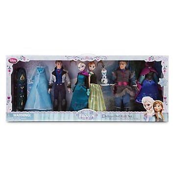 Disney Store FROZEN DELUX FASHION GIFT SET 4 DOLLS ANNA ELSA HANS KRISTOFF OLAF