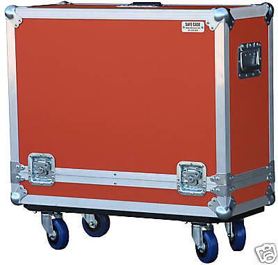 "ATA Safe Case for Orange Rocker 32 Combo Amp in Orange 4"" locking casters"