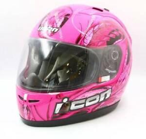 Icon Hydradry Pink motorbike helmet
