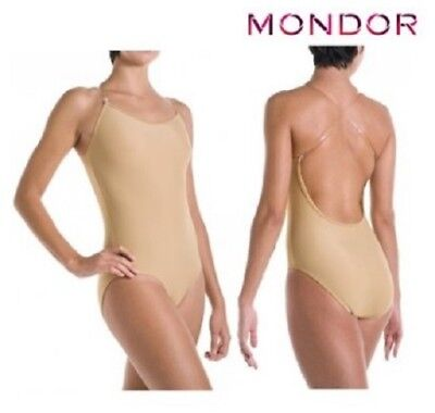 Mondor Nude Bodyliner w/ Low Back & Convert Straps, RUNS TINY, Child 8-10,