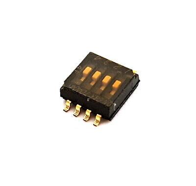 Dip Switch 4 Position Surface Mount Smt Ck Components Tda04h0sb110 Pcs