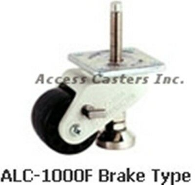 Alc-1000f Leveling Plate Caster With Brake 75mm Nylon Wheel 1100 Lbs Capacity