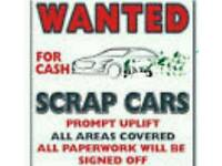 LOOK ! SCRAP CARS WANTED CASH COLLECTION