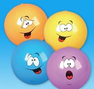 "48 SILLY FACE BEACH BALLS 16"" Pool Party Beachball  New! #ST58 Free Shipping"