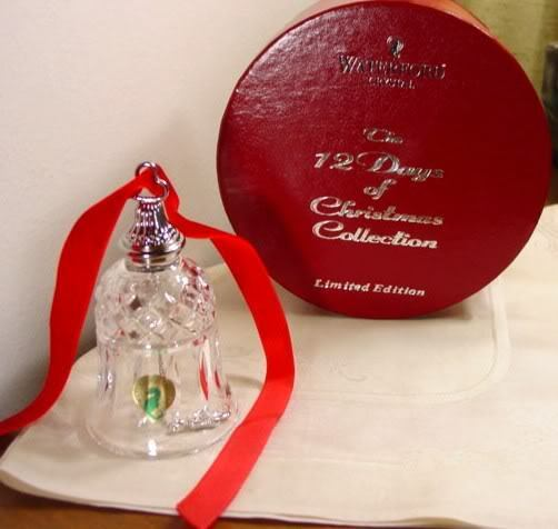 Waterford 12 Days Christmas Bell, 8 Maids Milking, NIB