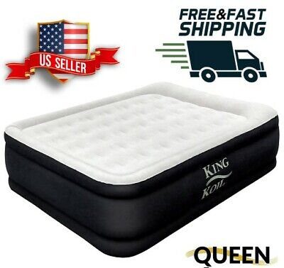 King Koil Luxury Raised Airbed with Built-in 120V AC High Ca