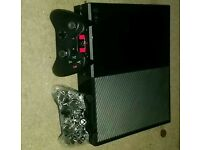 Xbox one with 2 controllers (good condition