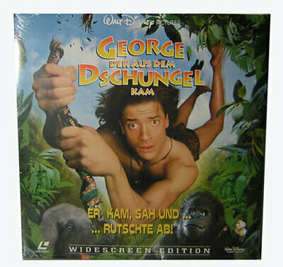 "Laserdisc "" George der aus dem Dschungel kam "" Film Movie Widescreen NEU"
