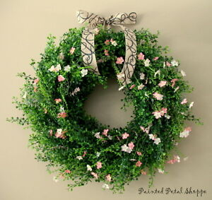 Boxwood & Wildflower Wreath/ Spring/Summer/Wedding Wreath Belleville Belleville Area image 1