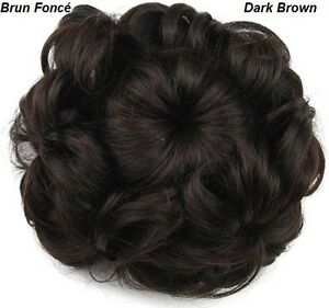 Wavy Curly Hair Bun Cover Hairpiece Scrunchie,Chignon diam.10cm St. John's Newfoundland image 5
