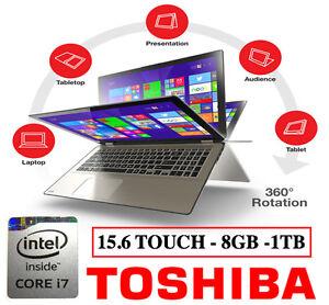 TOSHIBA SATELLITE RADIUS 15.6 TOUCH INTEL I7 LAPTOP