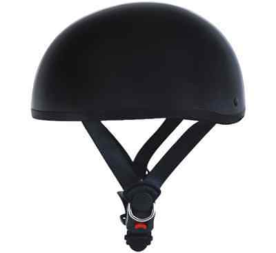 Flat Black DOT Cruiser Motorcycle Half Helmet Skull Cap Harley Chopper Biker