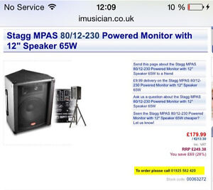 Stagg mixer/amp/monitor