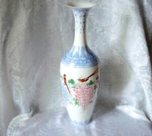 Chinese Republic eggshell porcelain TALL vases with box