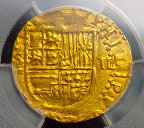 Spain 1556-98 2 Escudos Gold Cob Doubloon 2nd Finest Known Atocha Era Treasure