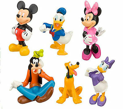 2017 New Disney Mickey Mouse Clubhouse Figurine Deluxe Figure Set Free Shipping