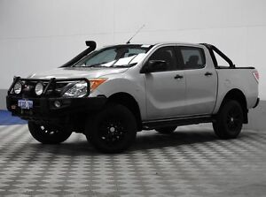 2011 Mazda BT-50 GT (4x4) Silver 6 Speed Manual Dual Cab Utility East Rockingham Rockingham Area Preview