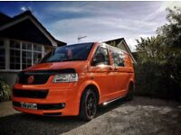 VW T5 T28 1.9 2003 ORANGE CAMPERVAN CONVERTED GREAT CONDITION, WELL LOOKED AFTER MOT SEPT 18 ORANGE
