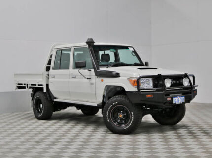 2013 Toyota Landcruiser VDJ79R MY12 Update Workmate (4x4) White 5 Speed Manual Double C/Chas