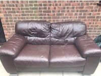 Two seat Brown Leather