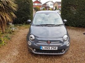 Fiat 500 Lounge 1.2 3 Door 2015, Grey, 1 Female Owner