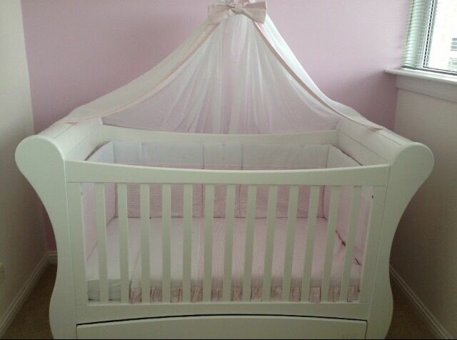 Troll sleigh cot bed with bedding & canopy | in East ...