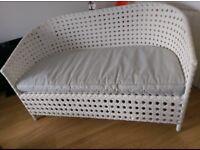 Rattan white garden seat £85