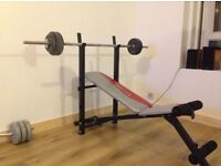 Weight bench and weights ( home gym )