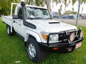2012 Toyota Landcruiser VDJ79R MY10 GX White 5 Speed Manual Cab Chassis Hidden Valley Darwin City Preview