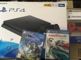 PlayStation 4, Controller, Horizon and Wipeout