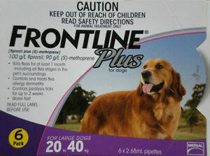 Frontline Plus 6-Month Supply For Dogs 45-88 lbs.  FREE and FAST Shipping DAILY!